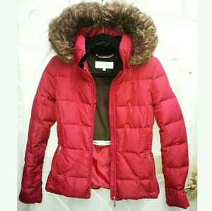Calvin Klein Red Puffer Coat